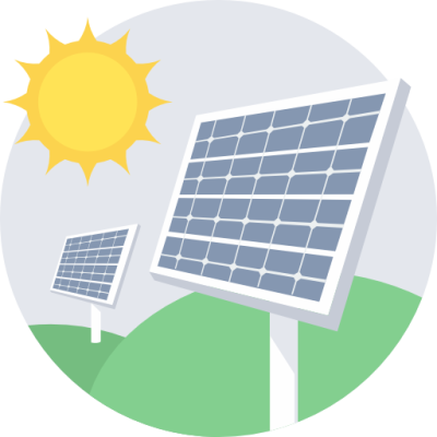 Solar Power System PNG File