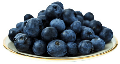blueberries-on-plate