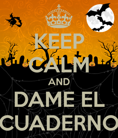 KEEP CALM AND DAME EL CUADERN