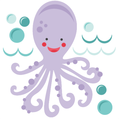 Cute Octopus PNG Free Download