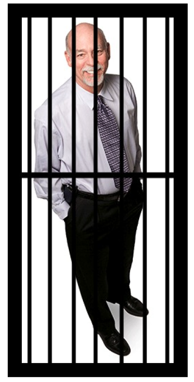 Dr. Martin behind bars