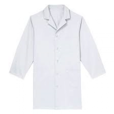 Unisex Basic White Lab Coat-M
