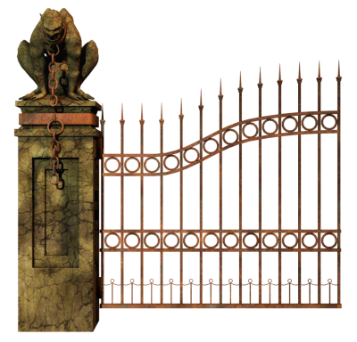 Graveyard Gate Left PNG Stock