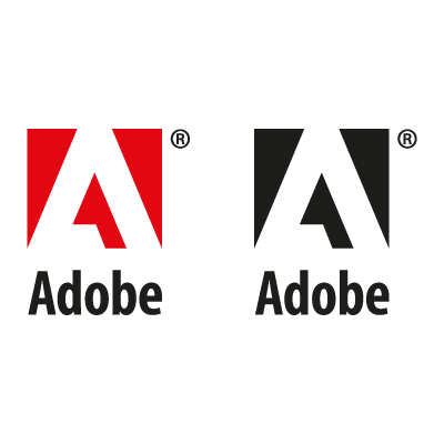 Adobe Black Logo Vector PNG-P