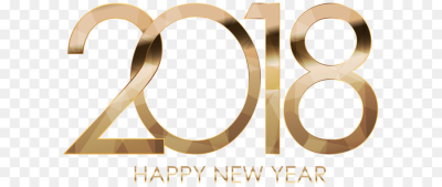 2018 Happy New Year Gold png download   8000*4670   Free ...