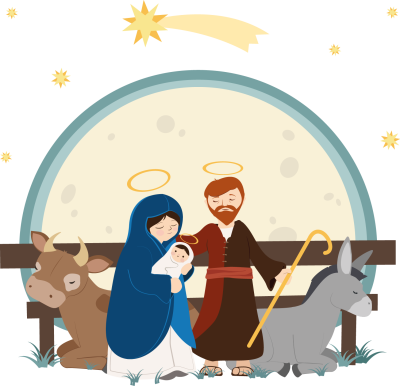 Of Illustration Jesus Nativity Vector Child Drawing