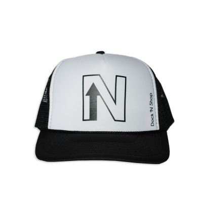 UP NORTH Black/White Trucker — Dock N Shop