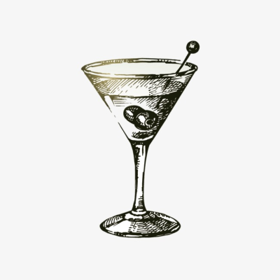 Cocktail, Cocktail Clipart, Black And White PNG Image and Clipart ...