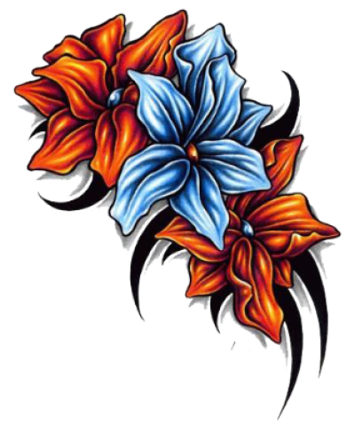 Flower Tattoo Png Image