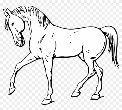 Farm   Clipart   Black   And   White   Horse Black And White ...