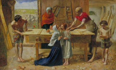 Joseph And Jesus Learning Carpenter Or Carpenter Tools Clipart ...
