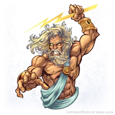 Zeus Character Design   Flyland Designs, Freelance Illustration ...