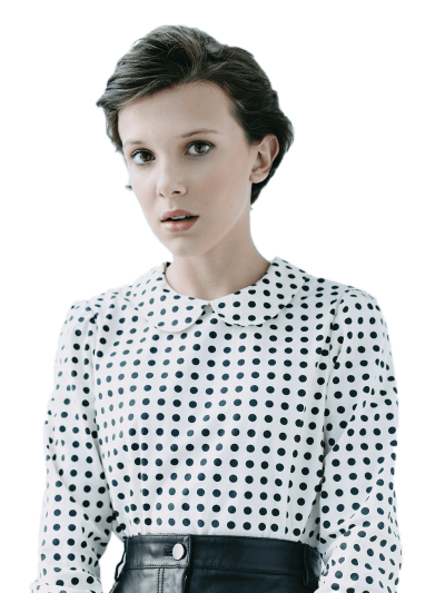 millie-bobby-brown-polka-dot-blouse
