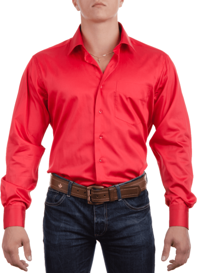 red-plain-full-shirt