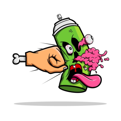 Destroy The Spray Paint, Street, Shirt, Tongue PNG and Vector for ...