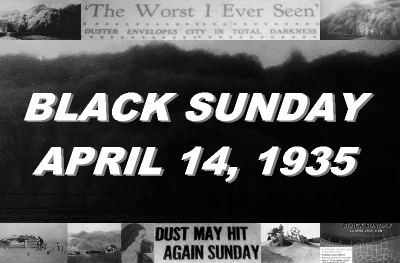 The Black Sunday Dust Storm of April 14, 1935