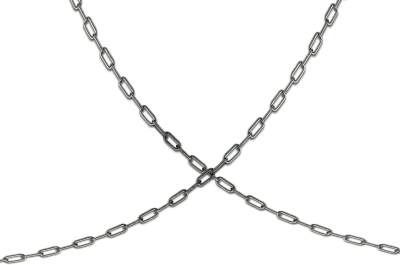 Transparent Silver Chain