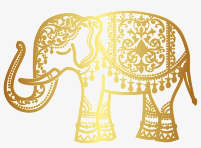 Free Png Download Decorative Gold Indian Elephant Png ...