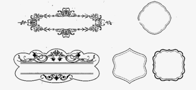 European Decorative Line, Line Clipart, Divider, Decorative Lines ...