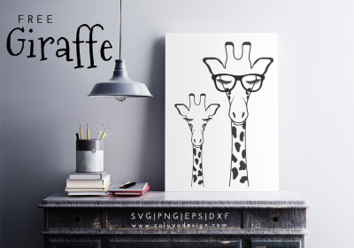 Giraffe Free SVG, PNG, EPS & DXF Download by Caluya Design