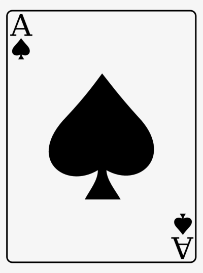 Ace Of Spades   Playing Card Design Ace   Free Transparent PNG ...
