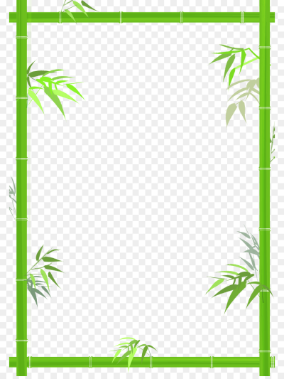 Bamboo Bamboe   Green bamboo decorative borders png download   842 ...
