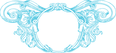 Aqua Border Frame PNG Photo