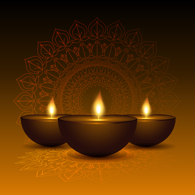 Decorative Diwali Lamp Background 0510, Deepavali, Diya, Tamil PNG ...