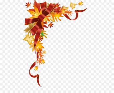 Autumn Free content Clip art   Silky bow Maple Corner decorative ...