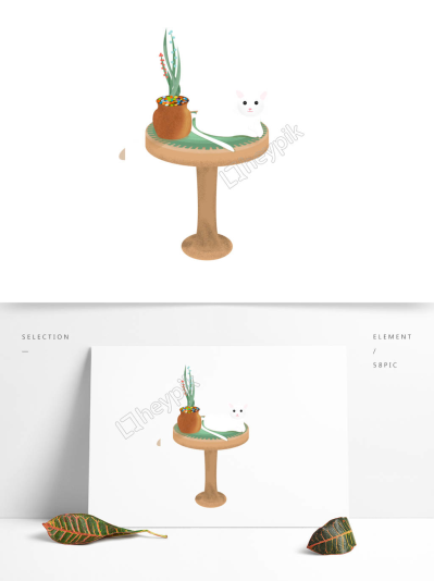 Cat element design sitting table image   PNG Clip art and Vector ...