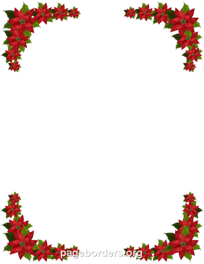 poinsettia border clip art free christmas decorative with ...