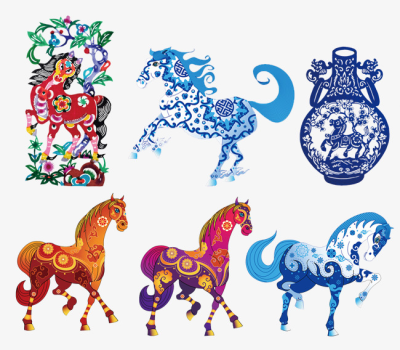 Chinese Traditional Decorative Material Horse, Ma Creative ...