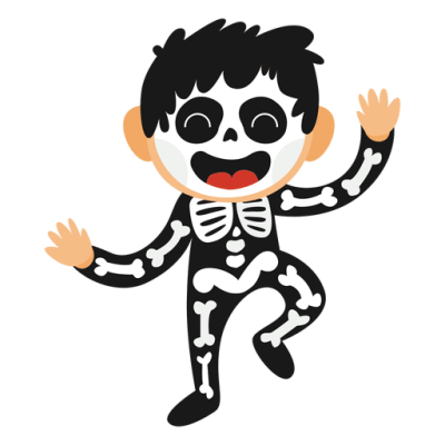 Skeleton kid halloween costume   Transparent PNG & SVG vector