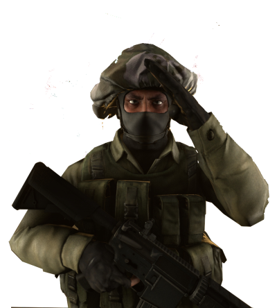 Counter Strike Soldier PNG Pic
