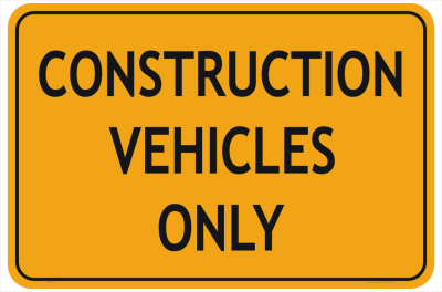 Construction Sign PNG File HD