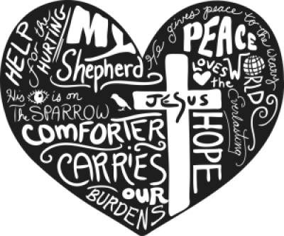 Christian Art Design of cross heart by Apostrophe Paper Co | Inktale