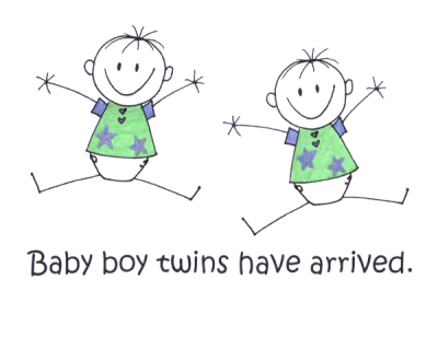 Twin Boys   VIP Kids Cards