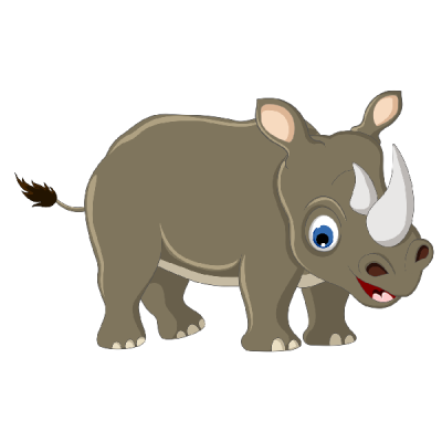 Kids Cute Rhino Clipart