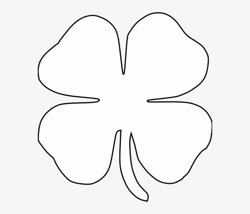 graphic about Printable Four Leaf Clover identified as Obtain Absolutely free png Absolutely free St Patricks Working day Printables 4 Leaf