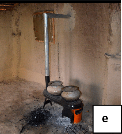 Study II photos of testing house and stoves used in water boiling ...
