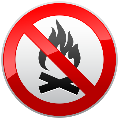 no-fire-prohibition-sign