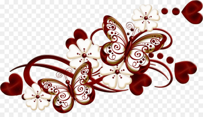 butterfly decoration png download   2381*1333   Free Transparent ...