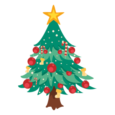 Christmas tree cartoon decoration   Transparent PNG & SVG vector