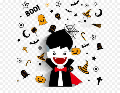Vampire Halloween decoration background png download   1647*1750 ...