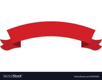 Red ribbon banner decoration celebration image Vector Image