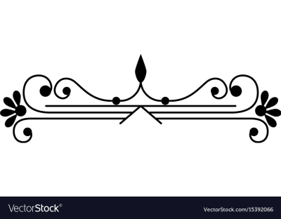 Swirl line decoration Royalty Free Vector Image