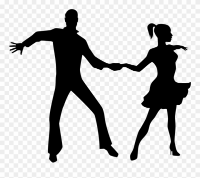 Dancing Couple Silhouette Png Transparent Clip Art (#68572 ...