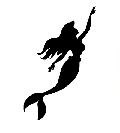 Free Little Mermaid Silhouette, Download Free Clip Art, Free Clip ...