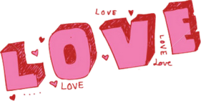 Love Text Free Png Image