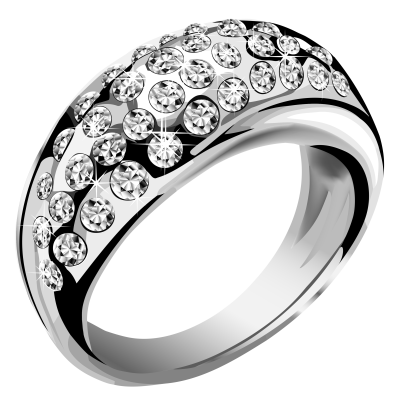 diamonds-ring-background-Jewelry-silver-transparent